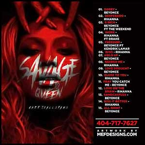 Savage To Queen Mixtape Graphics