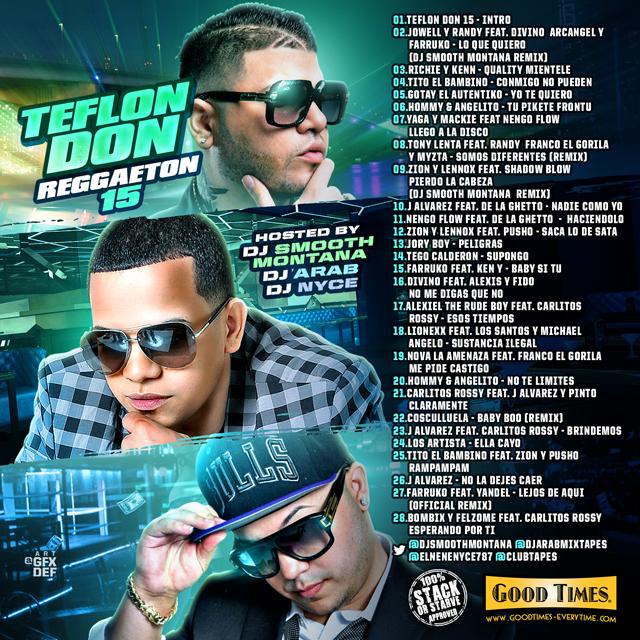 DJ Smooth Montana - Teflon Don Reggaeton 15   Buymixtapes com