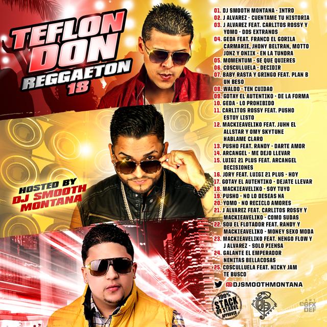 DJ Smooth Montana - Teflon Don Reggaeton 18   Buymixtapes com
